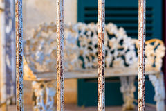 Free Rusty Iron Bars Fronting A Porch In Texas Stock Photography - 62396462