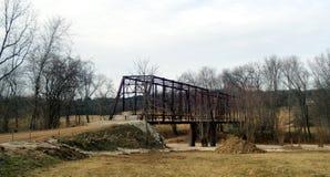 Rusty Iron Bridge blocked from traffic. Stock Photography