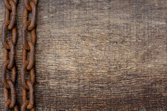 Rusty iron chain Royalty Free Stock Photography