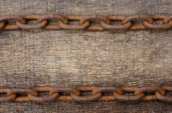 Rusty iron chain Royalty Free Stock Photos
