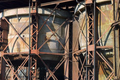 Rusty iron constructions Vitkovice Royalty Free Stock Photos