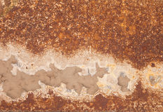 Rusty iron and corrosion stains background Stock Photography