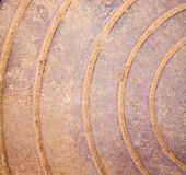 Rusty iron with curves Royalty Free Stock Photography