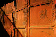 Rusty iron door Royalty Free Stock Photography