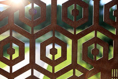 Rusty iron fence Stock Photography