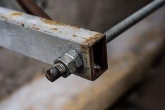 Rusty iron fixture Stock Image