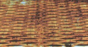 Rusty iron grating royalty free stock photography