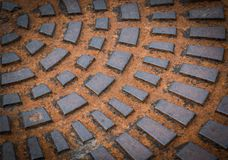 Rusty iron hatch Stock Images