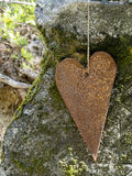 Rusty iron heart Royalty Free Stock Photography