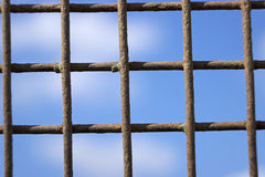 Rusty iron lattice against the sky Royalty Free Stock Photography