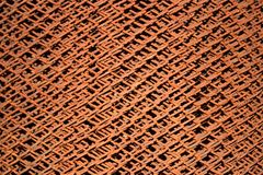 Rusty iron mesh Stock Photography