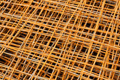 Rusty iron net. For ferro-concrete Royalty Free Stock Images