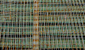 Rusty iron net Royalty Free Stock Photo
