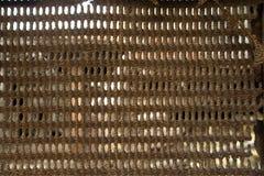 Rusty iron net texture Stock Photo