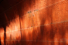 Rusty iron on an old ships hull Royalty Free Stock Images