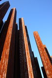 Rusty iron pillars Stock Image