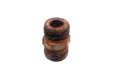 The rusty iron pipe Stock Images