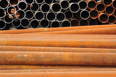 Rusty iron pipes. Rusty Iron Industrial Water Pipes Stock Photos