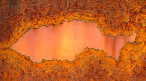 Rusty iron plate Royalty Free Stock Images