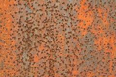 Rusty iron plate Stock Image