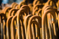 Rusty iron rods Royalty Free Stock Images