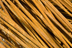 Rusty Iron Rods Closeup royalty free stock photo