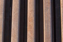 Rusty iron rods Stock Images