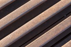 Rusty iron rods Royalty Free Stock Photography