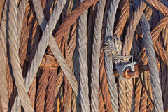 Rusty iron rope Royalty Free Stock Photography
