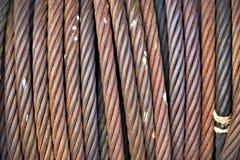 Rusty iron rope  texture Stock Photos