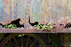 Rusty iron sheet with holes Stock Image