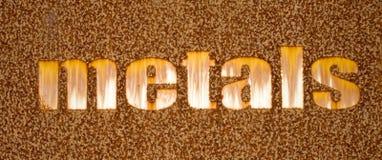 Rusty Iron Sign Stock Image