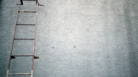 Rusty Iron Stairs. Outside the home Royalty Free Stock Photo