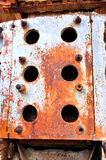 Rusty iron twist on a machinery Royalty Free Stock Photos