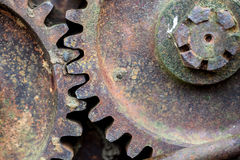 Rusty iron wheel. Close up Royalty Free Stock Photos