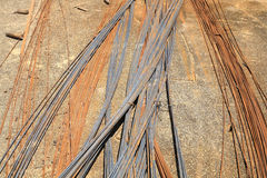 Rusty iron wire for construction Stock Image