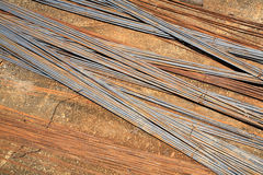 Rusty iron wire for construction Royalty Free Stock Photography