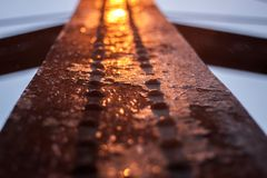 Rusty iron witch light stock images