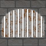 Rusty jail window Royalty Free Stock Images