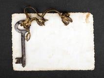 Rusty key and empty photography Stock Photo