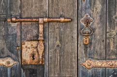Rusty key-hole Stock Photography