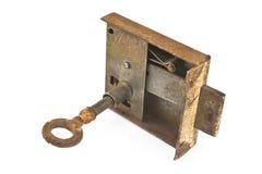 Rusty key in locker Royalty Free Stock Image