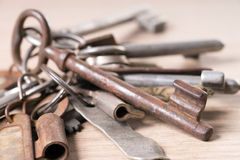 Rusty key Royalty Free Stock Photos