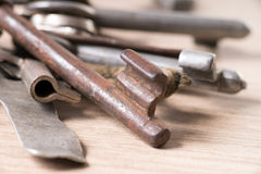 Rusty key Stock Photo