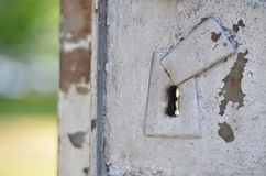 Rusty keyhole Stock Photo
