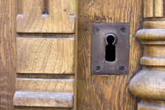Rusty keyhole Stock Photography