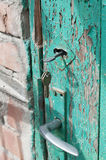 Rusty keys in old door lock Royalty Free Stock Photography