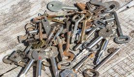 Rusty keys Stock Images