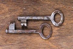 Rusty keys Stock Photo