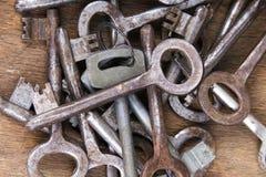Rusty keys Stock Photography